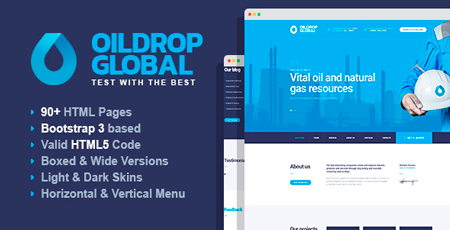 OilDrop - Oil and Gas Industrial HTML Template