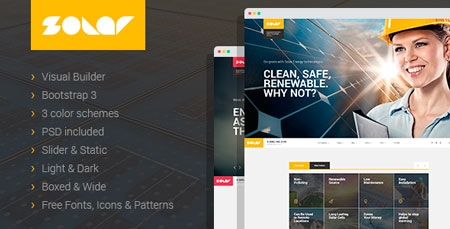 Solar - Renewable Energy Sinlge&Multipage HTML Template