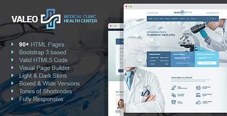Valeo – Health Center, Clinic & Hospital HTML Template