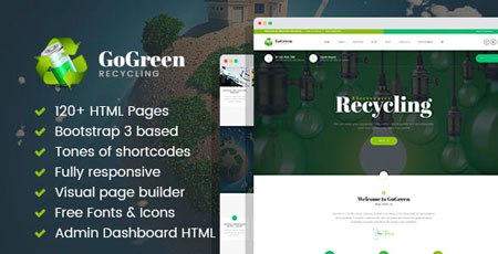 GoGreen – Waste Management and Recycling HTML Template