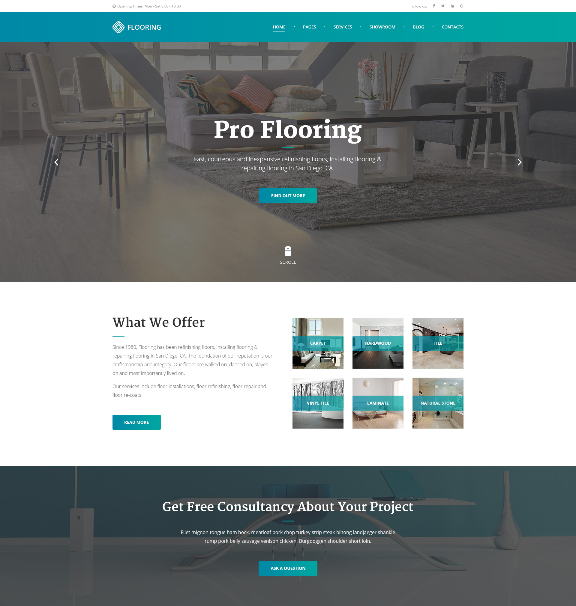 Floor Repair Refinishing And Installation Website Template