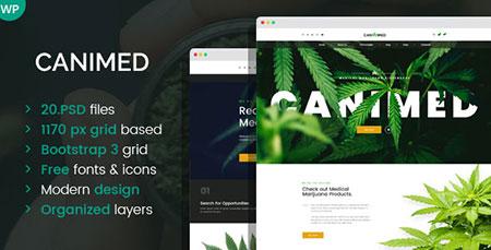 Canimed dispensary WordPress theme